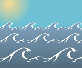 Ocean Sea Wave Free Vector