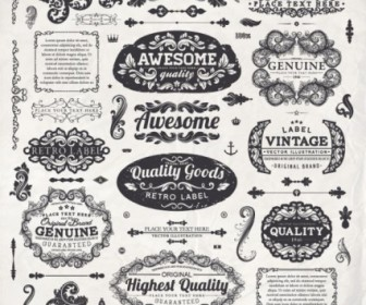 Classic Lace Label Vector Free