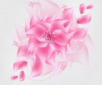 Vector Flower Romantic Background