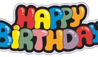 Vector Happy Birthday Text Template
