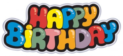 Vector Happy Birthday Text Template Ai Svg Eps Vector
