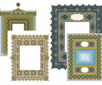 Classical Lace Pattern Frame Free Vector Art