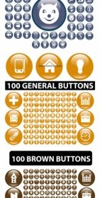 Web Design Button Icons Vector Set