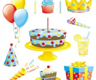 Birthday Event Elements Vector PAck