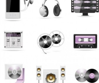 Music Icons Theme Style Vector