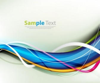 Colorful Waves Style Background Graphic Card