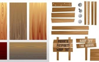 Wooden Grain Texture Free Vector Art