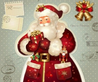 Christmas Santa Character Vector Graphics