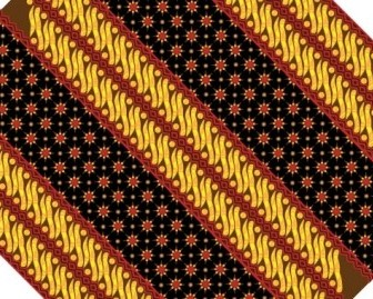 Batik Pattern Vector Art