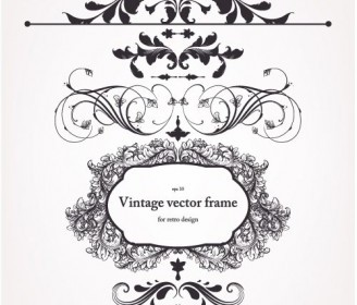 Vector Europeanstyle Border And Decorations 02 Floral Vector Art