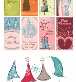 Vector Lovely Christmas Graphic Background Vector Art