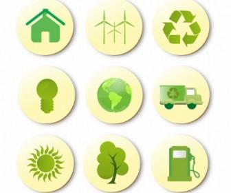 Vector Green Set Icon Vector Graphics
