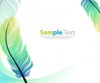 Vector Color Feathers Background Vector Art