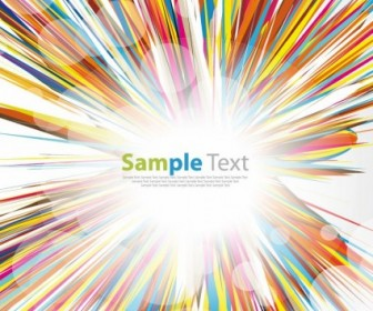 Vector Multicolored Burst Graphic Abstract Vector Graphics