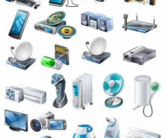 Vector Household Appliances Icons Icon Vector Graphics