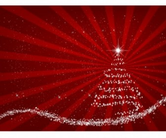 Vector Red Background Christmas Vector Graphics