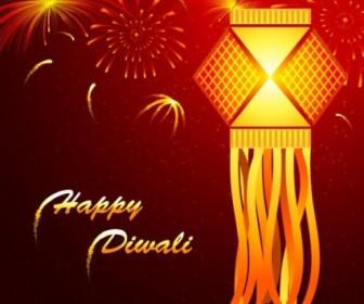 Vector Beautiful Diwali Cards 02 Vector Art
