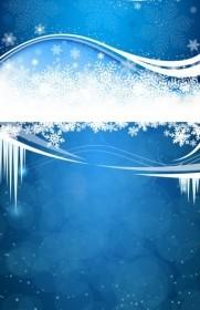 Vector Fresh Snow Background Vector Art