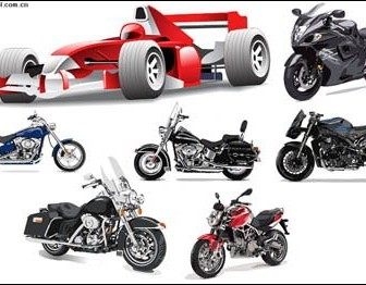 Vector Motorcycle Racing Material Car Vector Art