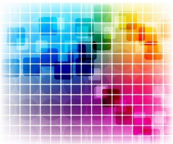 Vector Colorful Mosaic Design Pattern Vector Art