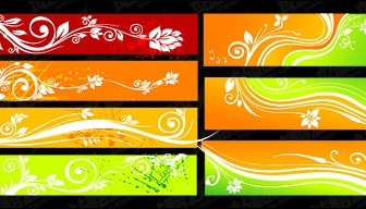 Vector Beautiful Color Patterns Banner Material Flower Vector Art