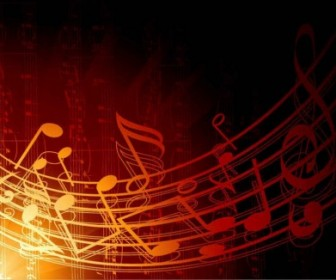 Vector Abstract Music Background Vector Art