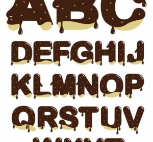Vector Chocolate Letters Vector Art