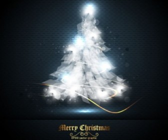 Vector Beautifully Halo Tree 01 Christmas Vector Graphics