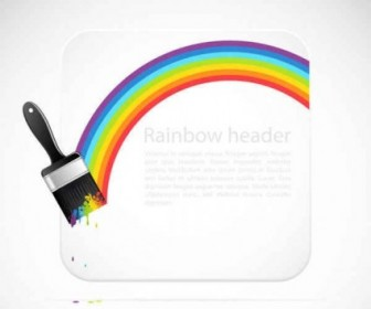Vector Rainbow Background Vector Art