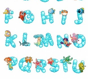 Vector Letters Design 01 Cartoon Vector Art