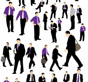 Vector Businessman Silhouette People Vector Art