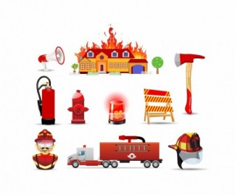 Vector Fire And Safety Icons Icon Vector Graphics