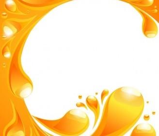 Vector Orange Liquid 2 Background Vector Art