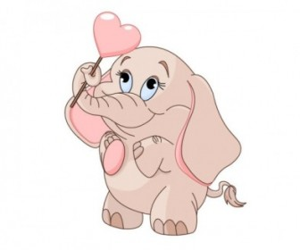 Vector Baby Elephant 03 Cartoon Vector Art