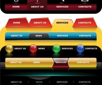 Web Navigation Menu Design Vector