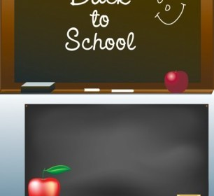 School Theme Element Vector Graphic