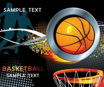 Basketball Sport Background Design Vector Art