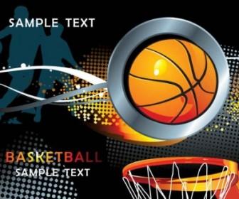 Basketball Sport Background Design Vector Art