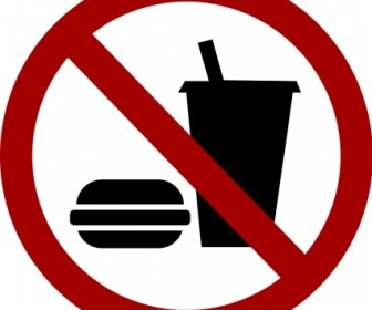Vector Sign No Food Drink