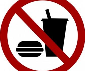 Vector Sign No Food Drink
