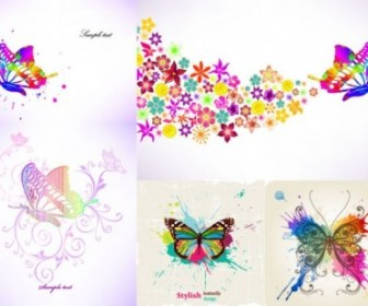 Colorful Butterfly Vector Design Pattern