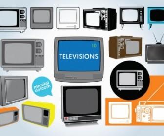 Vector Television Vector Art