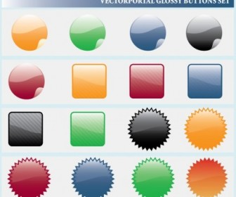Vector Glossy Icons Web Design Vector Graphics