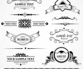 Vintage Classic Lace Patterns Vector