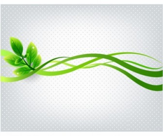 Ecology Green Leaves Background Vector