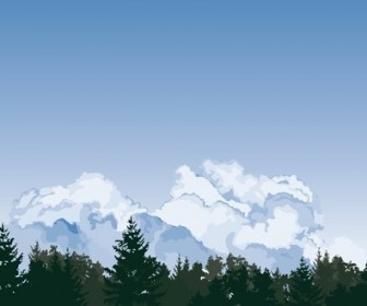 Sky Cloud Vector Landscape Background