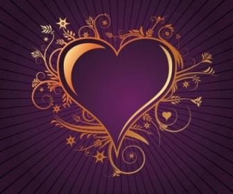 Floral Heart Decorative Vector Art