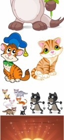 Cat Animal Cartoon Vector Graphics