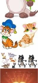 Cat Animal Cartoon Vector Graphics