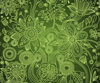 Floral Flower Seamless Background Vector Art